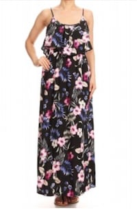 Black floral dress Fullerton, 92831