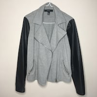 Grey Blazer w Leather Sleeves Vancouver, V5R 1L5