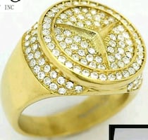 MERCEDES BENZ RING GOLD plated.