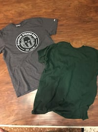 two gray and green crew-neck t-shirts Hagerstown, 21742