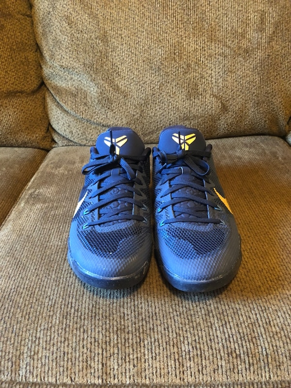 "23287b1dd64 Used Nike Kobe 11 EM ""Philippines"" Deep Royal Blue Metallic Gold ..."