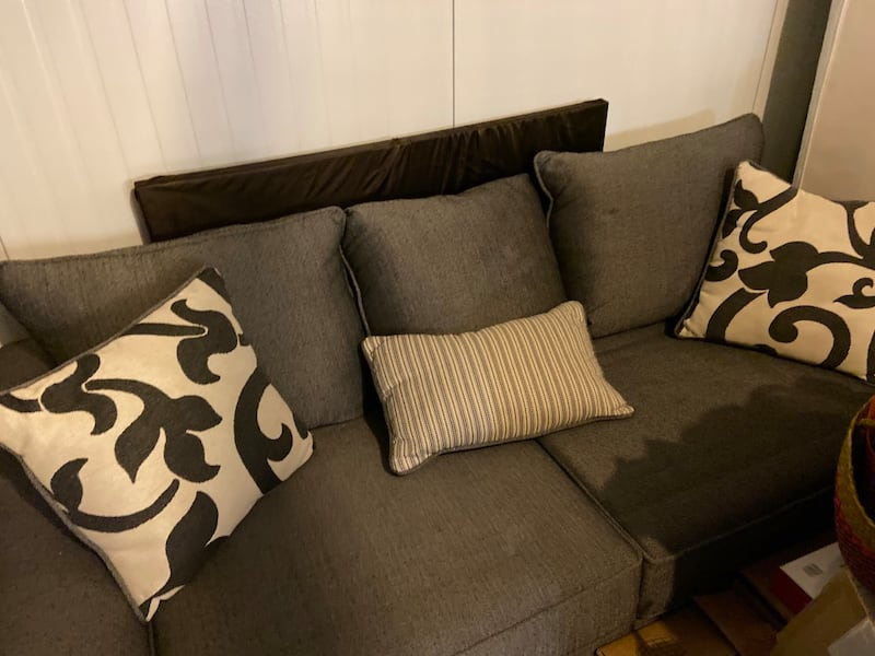 Need gone ASAP Like-new Condition Gray Sofa and Cushions (NEGOTIABLE)  db59e578-f47a-40b5-9907-b0ac3b0210fc