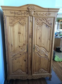 Price Reduced - Large Ornate Pine Armoire Lafayette, 07848