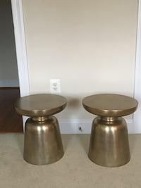 Two West Elm gold side tables Vienna, 22182