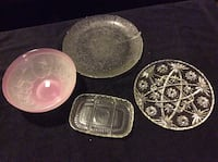3 glass serving platters and fruit bowl Surrey, V3S 2E6