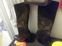 Angela Falconi brown boots. They sell for $180.00 I am asking $90.00 Cocoa