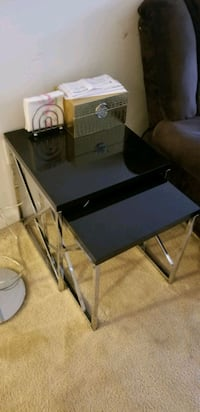 Black and silver nesting table Odenton