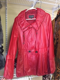 Women's red leather coat  Airdrie, T4A 1Y4