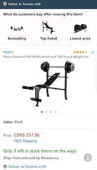 Marcy workout bench BRAND NEW set with weights  Mississauga, L5J 4H3