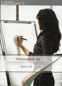. Management Bus 137, FTCC-Fayetteville, Technical Community College),   2013, Book Is Good,   ISBN  [PHONE NUMBER HIDDEN] 69,   Asking Price $29.99 OBO=Or Best Offer   (K72), Fast Shipping   God Bless You. FAYETTEVILLE