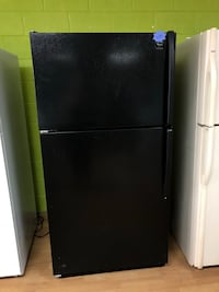 Whirlpool black top freezer refrigerator  Woodbridge, 22191