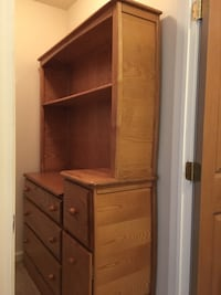 Dresser with changing table and hutch
