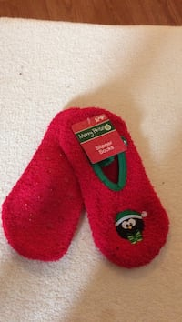 Christmas soft slipper sock with traction, I have a square for credit cards, with ten percent charge 393 mi
