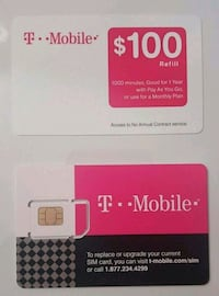 $100 Refill card. 4 available.