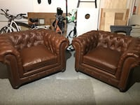 Durango Chesterfield Brown Leather Chairs Aliso Viejo, 92656