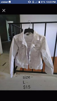 white button-up jacket  Glens Falls, 12801