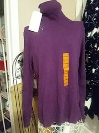 Purple Turtle Neck Sweater by Leo Nicole Fountain Inn, 29644