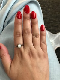 Sterling silver real pearl ring size 7  Vancouver, V5T 2E2
