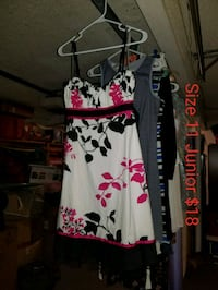 white and pink floral sleeveless dress Oldsmar