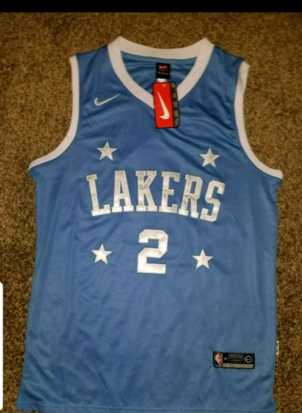 c624eecbac1 Used blue and white Adidas Los Angeles Lakers 24 jersey for sale in Compton