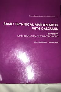 Basic technical mathematics with calculus  Toronto, M1K 5J2