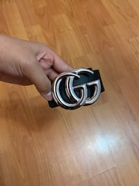 BLACK GUCCI BELT WITH SILVER BUCKLE Toronto, M1K 3M9