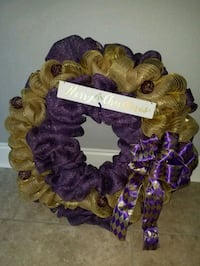 purple and brown wreath decor Livingston, 70754