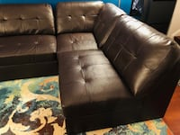 Sectional Sofa Set #dark brown #Excellent Condition