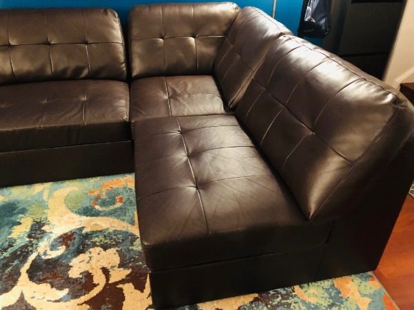 Sectional Sofa Set #dark brown #Excellent Condition 10c17aa8-f2b5-414c-94da-ae149f8cdd20