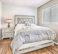 white wooden bed frame with white bed sheet Scarborough, M1P