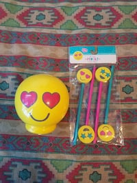 Emoji coin bank  with pencil+ eraser Salinas, 93905