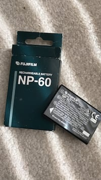 Black fujifilm rechargeable battery with box