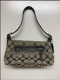 Small Signature Coach Bag Silver Spring