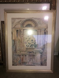 brown wooden framed painting of house Bristol, 37618