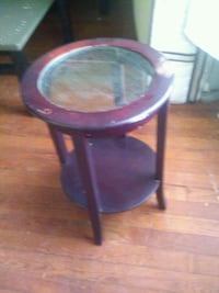 Glass top small table stand