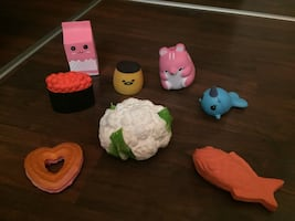 Various soft nerf style toys