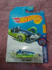 blue and green car toy pack