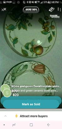 white and green floral ceramic bowl screenshot Vancouver, V5X 1N3