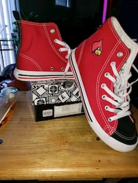 Women's Louisville HiTop Size 9 worn once for 15 minutes