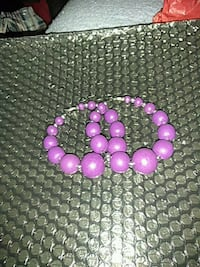 purple and silver beaded necklace Suitland-Silver Hill, 20746