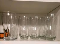 10 Large Glass Cups (596 ml each)  Toronto, M6A 2W4
