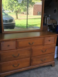 Solid oak dresser with detachable mirror. Built in 1930's. Great condition.