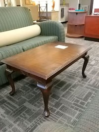 rectangular brown wooden coffee table Mississauga