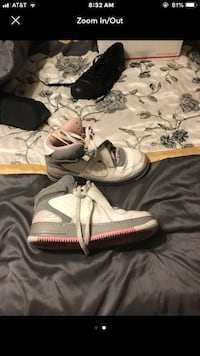 Pair of white nike basketball shoes Clarksville, 37042