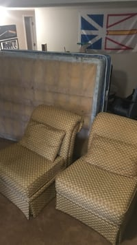 two brown fabric sofa chairs Surrey, V4P 1J1
