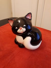 Ceramic Black and White Kitty Bank Winston-Salem