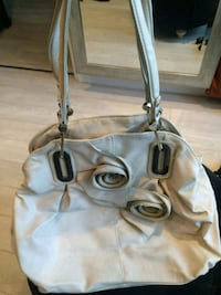 white and brown leather tote bag Québec, G2B 2R4