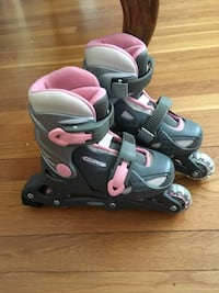 DBX Equinox gray-and-pink inline Skates