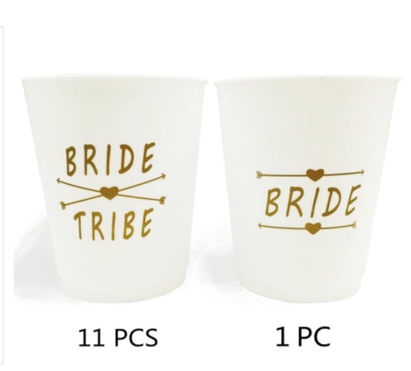 brand new party cups bridal shower cups plastic bride and bride tribe cups