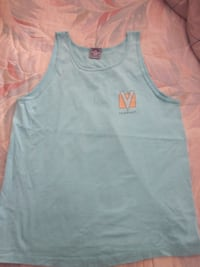 Vintage 80's Vuarnet Powder Blue Tank Top - Size Large Winnipeg